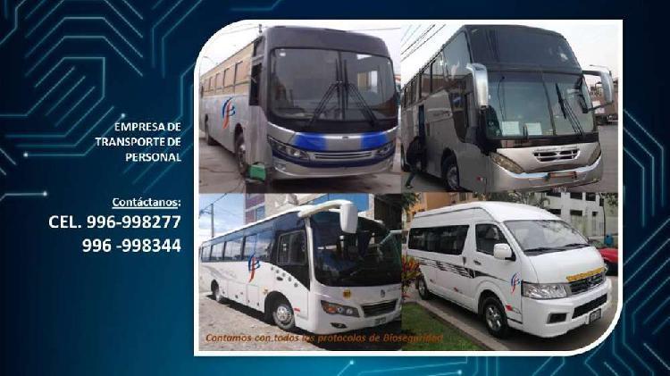Transporte de personal empresas