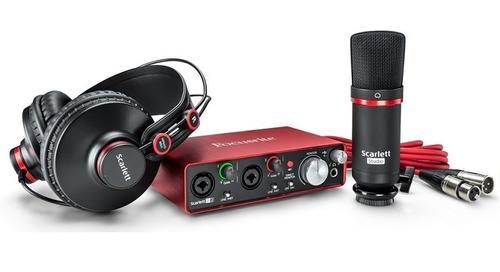 Kit grabación focusrite scarlett 2i2 studio - 3 generación