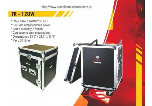 Rack para consola y poderes 12u con ruedas francys pro fr12u
