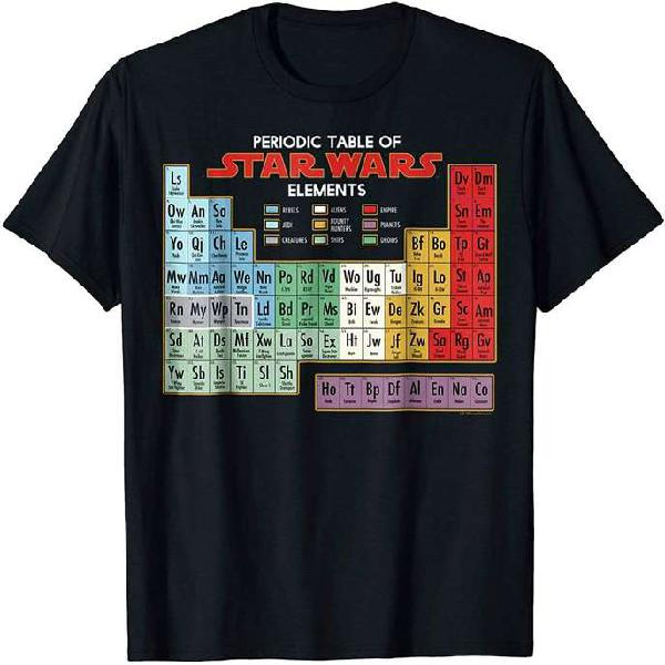 Polo Tabla Periódica oficial de Star Wars *Nuevo*