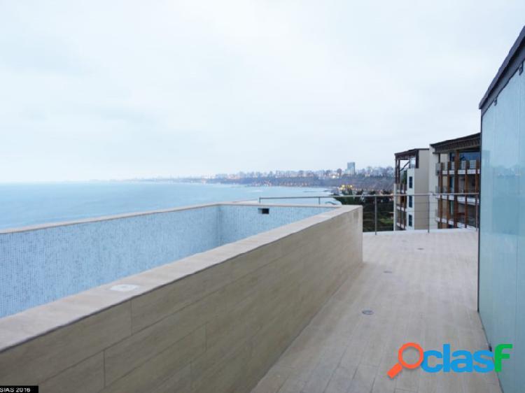 Penthouse en venta en barranco exclusivo hermoso con vista al mar piscina terraza