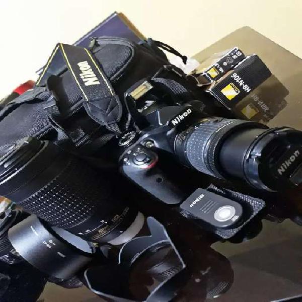 CÁMARA REFLEX NIKON D3400+Kit+lente 50mm f/1.