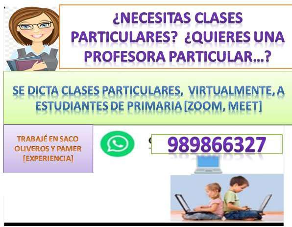 Se dictan clases particulares virtuales de matemática y