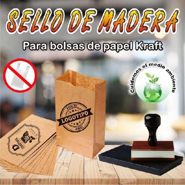 SELLOS DE MADERA PARA BOLSAS CRAFT