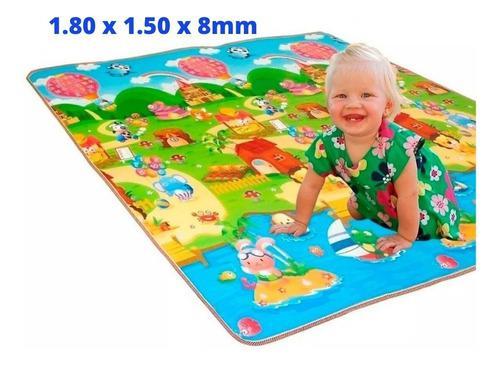 Alfombra piso tapete para bebés y niños reversible