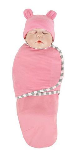 Baby fees mantas envolvente con gorro para bebés