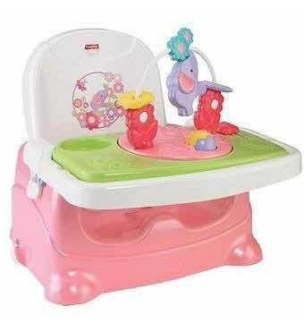 Fisher price silla de bebe parcomer portátil rosado y verd
