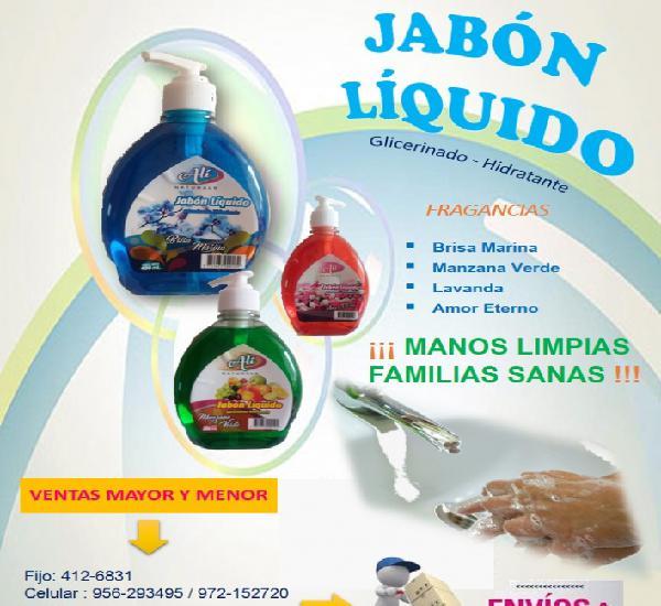 Jabon liquido venta al x mayor y menor