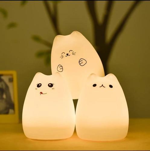 Lámpara silicona led gatito