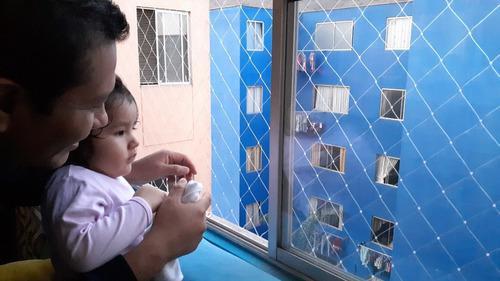 Mallas protectoras de seguridad en ventanas, escaleras