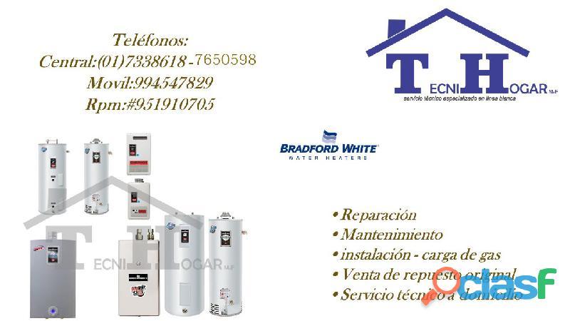 Reparación de termas a gas termotanques BRADFORD WHITE autorizados 7650598