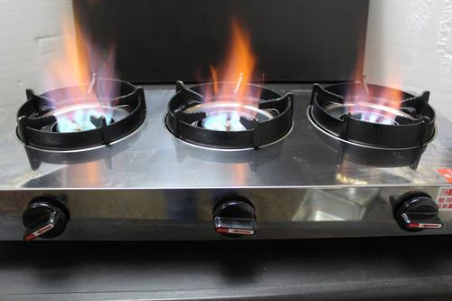 Cocina gas mesa-3 hornillas semi-industrial - remate