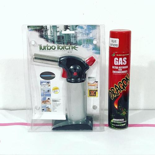 Flameador + frasco de gas