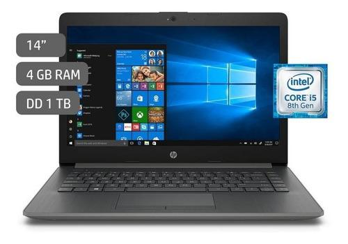 Laptop hp 14 core i5 windows 10 home 4gb 1tb gris