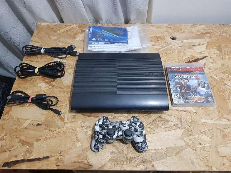 Playstation 3 ps3 super slim 500gb + 3 juegos + patines +