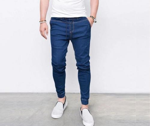 Pantalón joggers jeans strech juvenil de hombre, joggers