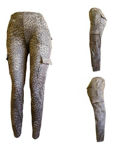 Pantalon cargo print, ropa de mujer moda