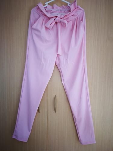 Pantalon rosado lazo ropa mujer sieteshop
