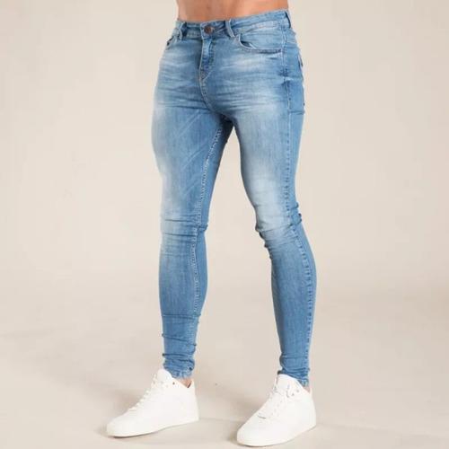 Pantalones jean pitillo/skinny para hombres slim fit de moda