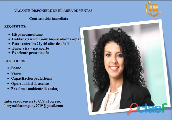 Oportunidad de empleo para gente como tú!