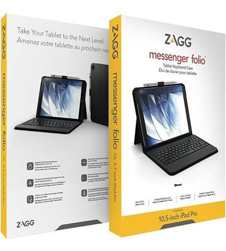 Estuche /teclado bluetooth zagg messenger folio ipad 10.5