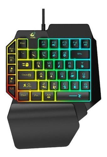 Teclado gamer de una mano para pc/laptop/celular