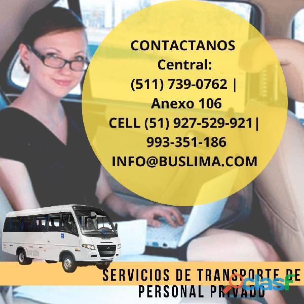 Servicio de transporte de personal privado en Lima   Lima