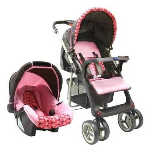Coche para bebé rosado zap travel system - baby kits