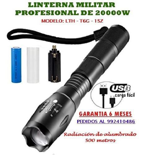 Linterna militar de alta potencia de 20000w - 500 metros