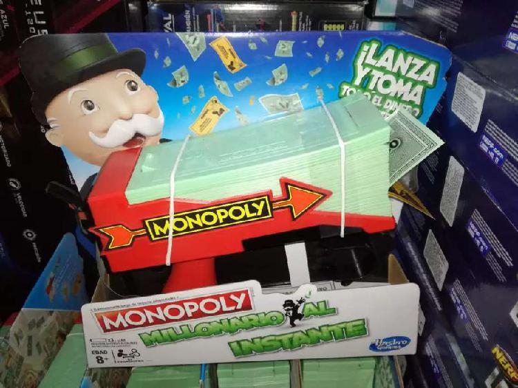 Nuevo hasbro monopolio millonario monopoly lanza billetes