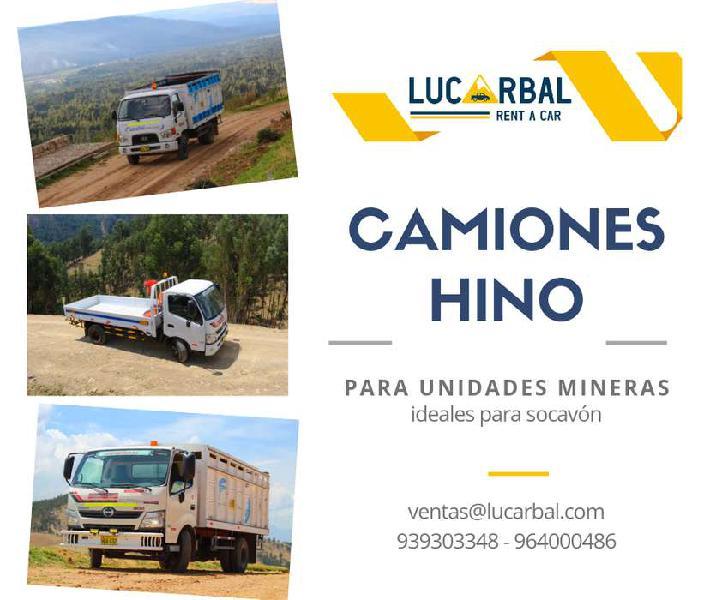 Alquiler de camionetas 4x4, buses, camiones, coaster
