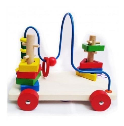 Didáctico de madera para bebes - modelo circuito