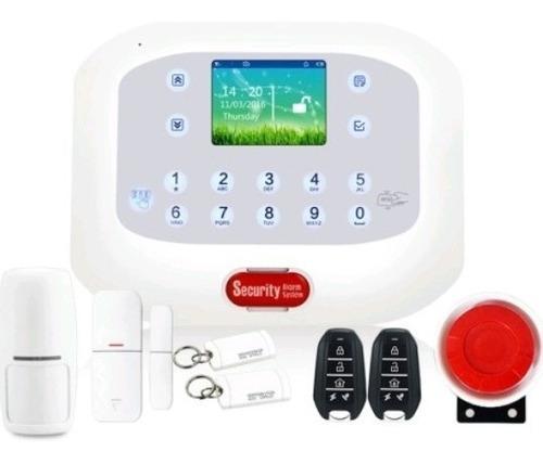 Kit de alarma inalámbrica gsm y línea teléfono habla