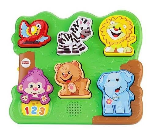 Rompecabezas bebes musical animales zoologico fisher price