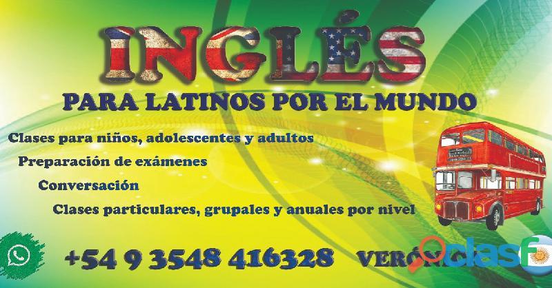 Clases de inglés y español online