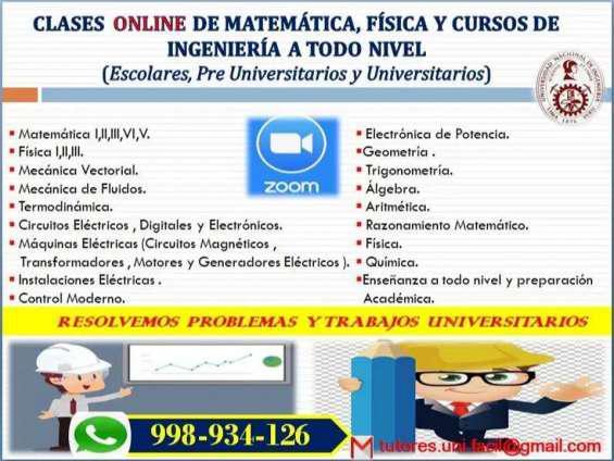 Clases online de matemáticas, física y cursos de