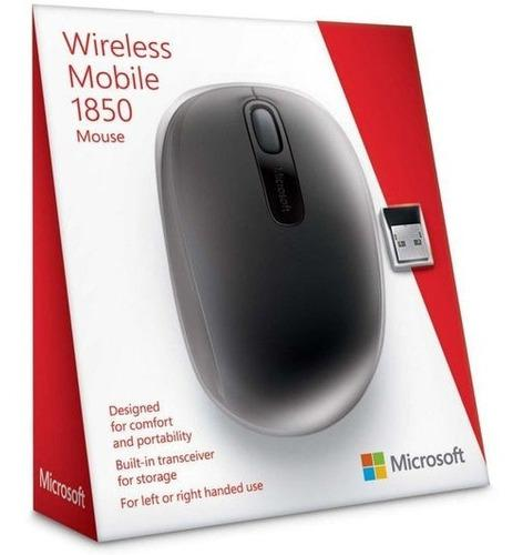 Mouse inalambrico microsoft negro y morado - envíos ya