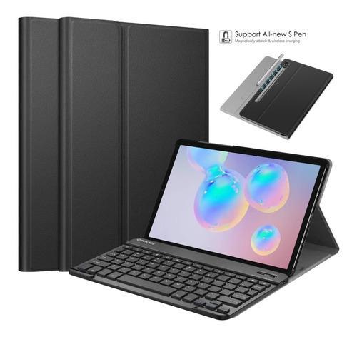 Case galaxy tab s6 s4 a 10.5 s5e 10.1 c/ teclado bluetooth