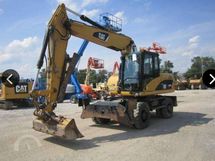 Excavadora sobre ruedas cat m316d
