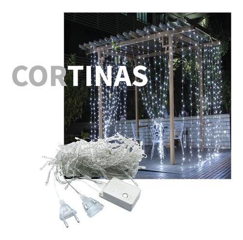 Cortina led 3 x 3 con 320 luces con movimiento