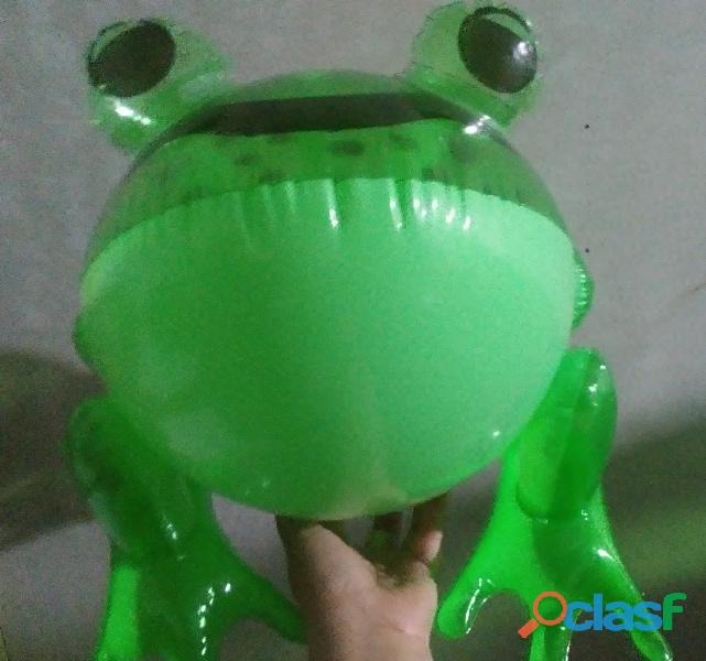 Sapo inflable verde