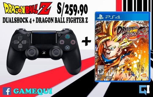 Dualshock 4 negro + dragon ball fighter z, nuevo sellado