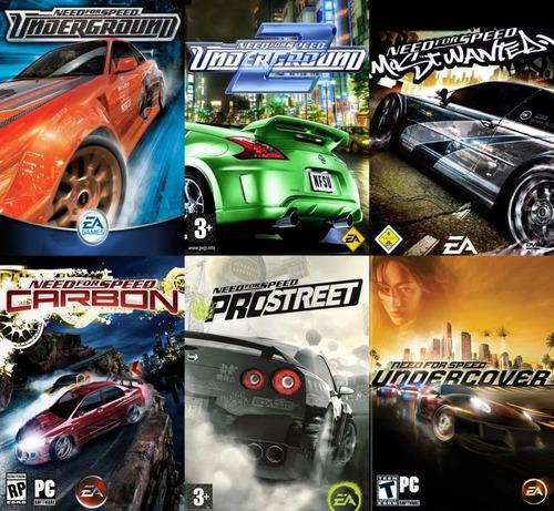 Need for speed (6 juegos) pc digital + instalación remota
