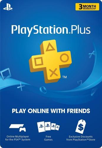 Playstation plus - 3 meses - usa - manvicio store - !!!