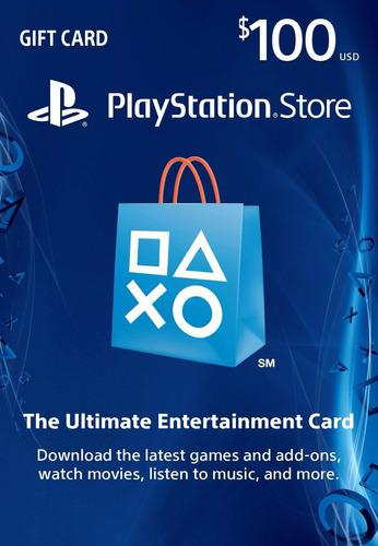 Psn card - 100 dolares - manvicio store