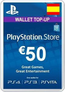 Psn card - 50 euros - manvicio store - !!!
