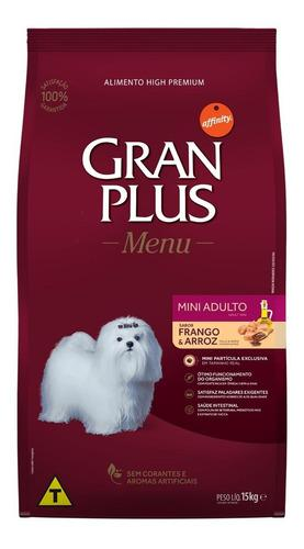 Gran Plus, Alimento Perro Adulto Mini, Pollo Y Arroz, 15 Kg