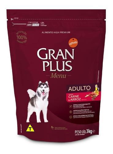 Gran Plus Menu, Carne Y Arroz, Alimento Perro Adulto 3kg