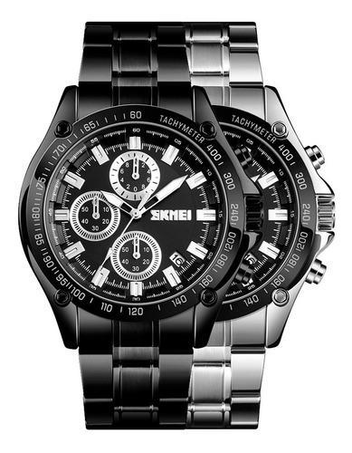 Reloj Skmei Ef 1393 Cronógrafo Fecha Acuático Moda