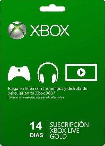 Xbox Live Gold 14 Dias Memberships - Código Digital